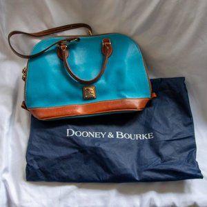 Dooney Bourke Blue Leather Domed Shoulder Bag